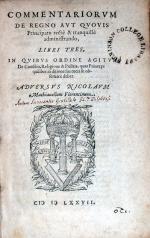 Commentariorvm De Regno Avt Qvovis Principatu...