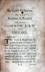 The common law epitomiz'd