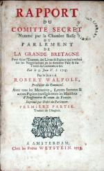 Rapport Du Comitté Secret Nommé…Pour faire l'Examen des Livres...