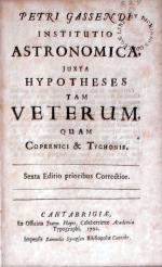 Institutio Astronomica, Juxta Hypotheses Tam Veterum, Quam Copernici...