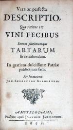 Vera ac perfecta Descriptio, Qua ratione ex Vini Fecibus Bonum...