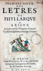 Premiere Partie Des Letres De Phyllarqve A Ariste...