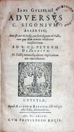 Adversvs C. Sigonivm Assertio; Non esse aut M. Tullij...