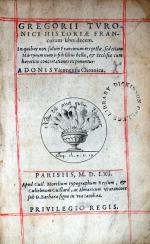 Historia Francorum libri decem...Chronica