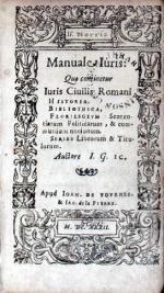Manuale iuris: Que continetur Iuris ciuilis romani...