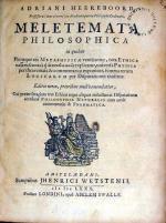 Meletemata Philosophica in quibus Pleraeque res Metaphysicae ventilantur...