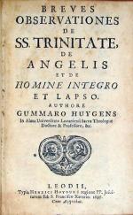 Breves Observationes de SS. Trinitate, de Angelis et de Homine Integro Et Lapso