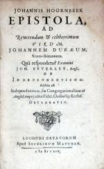Epistola, Ad.Johannem Duraeum, .Quâ respondetur Examini Joh. Beverley...