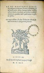 De Re Hortensi Libellus, uulgaria herbarum, florum, ac fruticum...