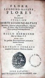 Florae Lugduno-Batavae Flores sive Enumeratio Stirpium Horti Lugduno-Batavi
