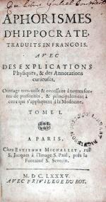 Aphorismes D'Hippocrate, Traduits En Francois