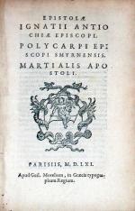 Epistolae Ignatii..Polycarpi..Martialis