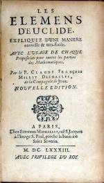 Les Elemens D'Euclide Expliquez D'Une Maniere nouvelle & tres-facile..Nouvelle Edition