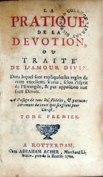 La Pratique De La Devotion, Ou Traité De L'Amour Divin