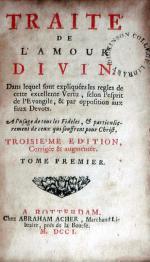 Traité de L'Amour Divine
