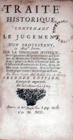 Traité Historique, Contenant Le Jugement D'Un Protestant...