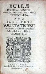 Bullae Decreta Canones Ordinationes Instructiones Epistolae...
