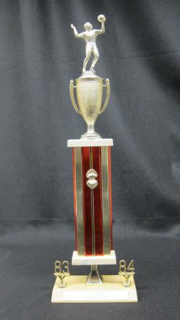 """Harrisburg Hustlers Volleyball L.P. Rec. """"B"""" Division League 2nd Place Trophy - 1983-1984"""