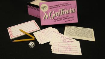 Gay Trivia Game - 1985