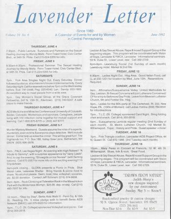 Lavender Letter - June 1992