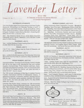 Lavender Letter - July 1992