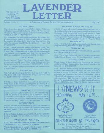Lavender Letter - May 1993