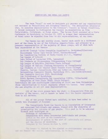 Identifying the Rural Gay Caucus - June 5, 1976