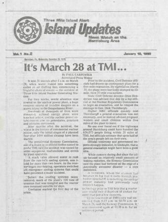 Three Mile Island Alert: Island Updates, 1980