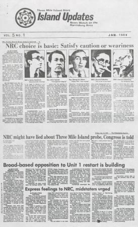 Three Mile Island Alert: Island Updates, 1985