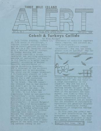 Three Mile Island Alert Newsletters, 1980