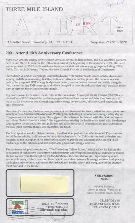 Three Mile Island Alert Newsletters, 1994