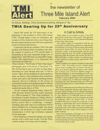 Three Mile Island Alert Newsletters (Feb. 2004)