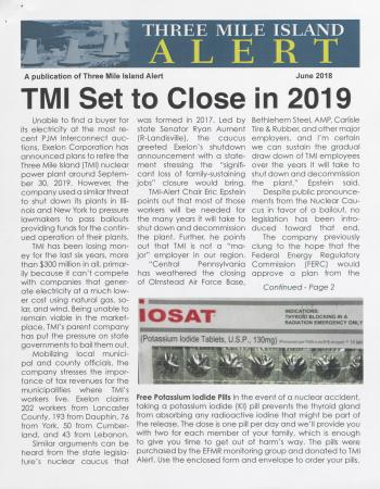 Three Mile Island Alert Newsletter (June 2018)