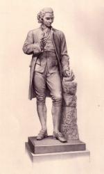 Engraving of Joseph Priestley statue, 1877