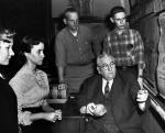 Professor Herbert Wing with students, c.1960