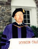 President Fritschler at Commencement, 1991