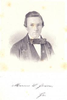 Marcus L. Gordon, 1858