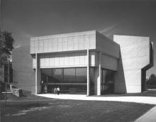 Anita Tuvin Schlechter Auditorium main entrance, c.1971