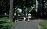 Students walk, c.1982