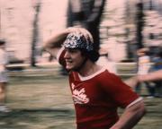 A student runs, c.1983
