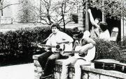 Two students play guitars, c.1983