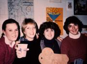 Four friends hanging out, c.1983