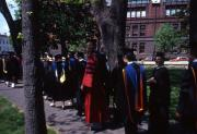 Academic procession at commencement, c.1983