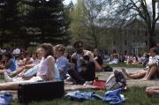 Campus gathering on Morgan field, c.1984