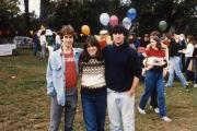 Three students smile, c.1984