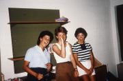 Three students in a dorm, c.1984