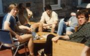 Students sit outside, c.1984