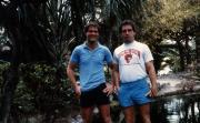 Two students on break, c.1985