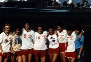 Women's soccer team after a game, c.1985