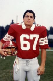 A football player, c.1985